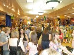 authors mingle with readers at Bookpeople Bookstore in Austin, TX