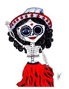 Skeleton Doll, Art by Laura Silva